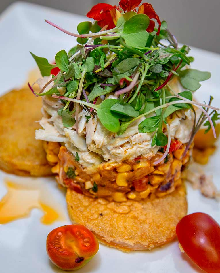 Crab Salad Fried Green Tomatoes